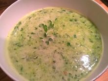 Pea. Spinach and coconut milk soup